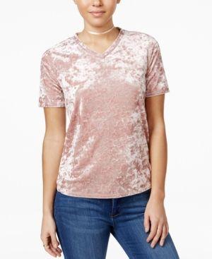 6ccc8f7f0d874a Material Girl Velvet V-Neck T-Shirt