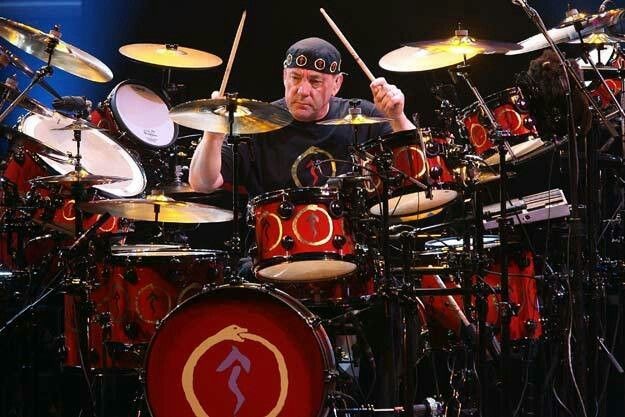 Neil Peart On Drums ...