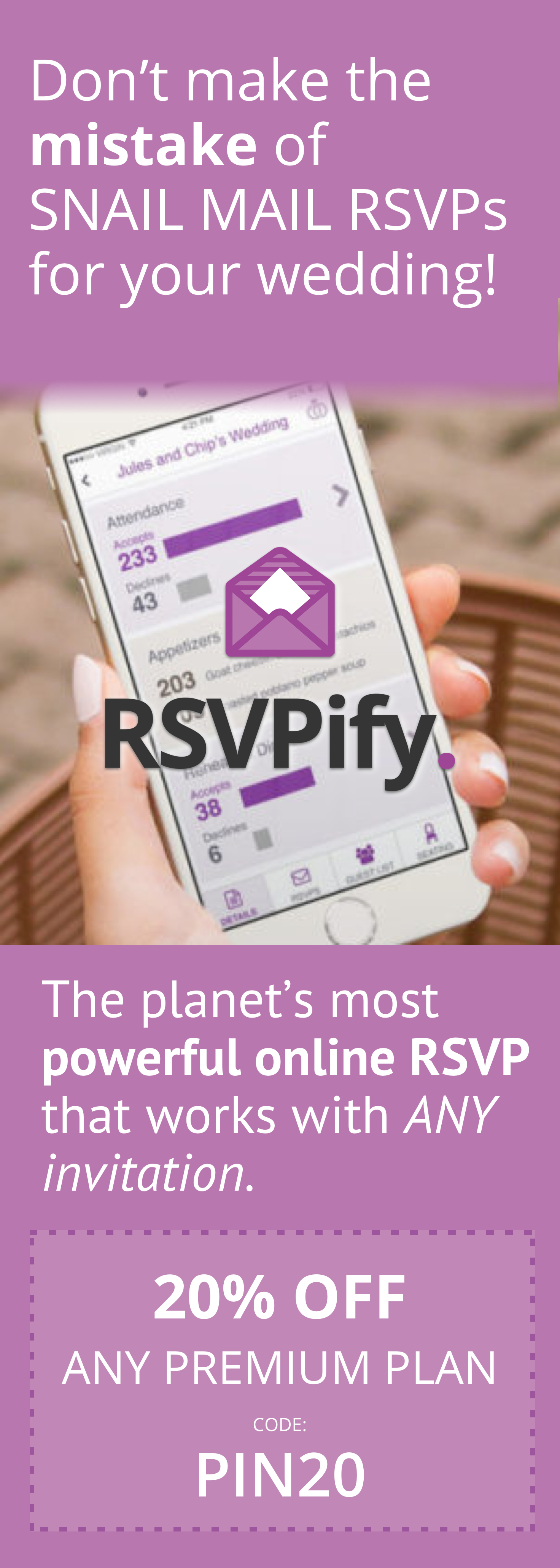 RSVPify is the 1 free way to collect RSVPs for your