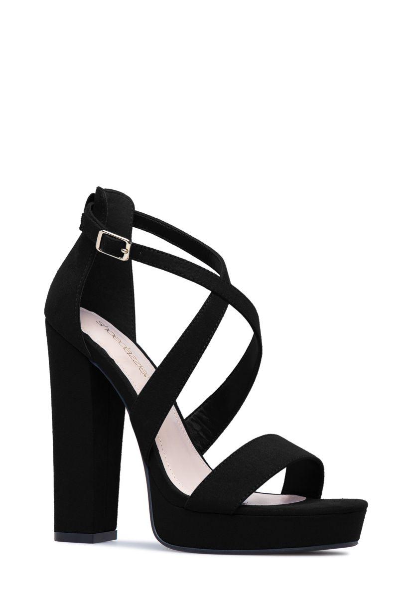 Natalia Strappy Block Heel Shoedazzle Strappy Block Heels