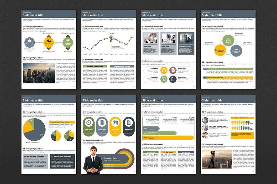 City Vertical PowerPoint Template Powerpoint templates
