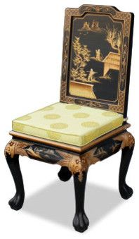 Hand Painted Chinoiserie Chair China Furniture Online Asian Dining Chairs And Benches