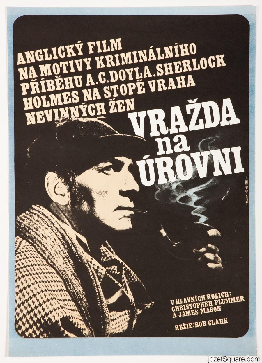 Sherlock Holmes Movie Poster, Murder by Decree, Dobroslav Foll, 1980
