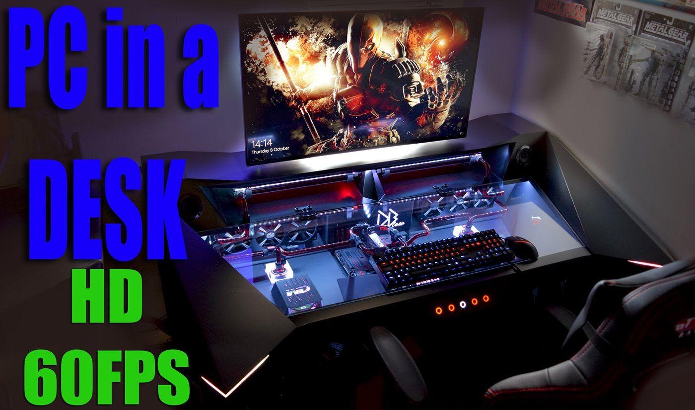 Ultimate Gaming Desk ultimate gaming pc in a desk 4k battlestation   setup(s