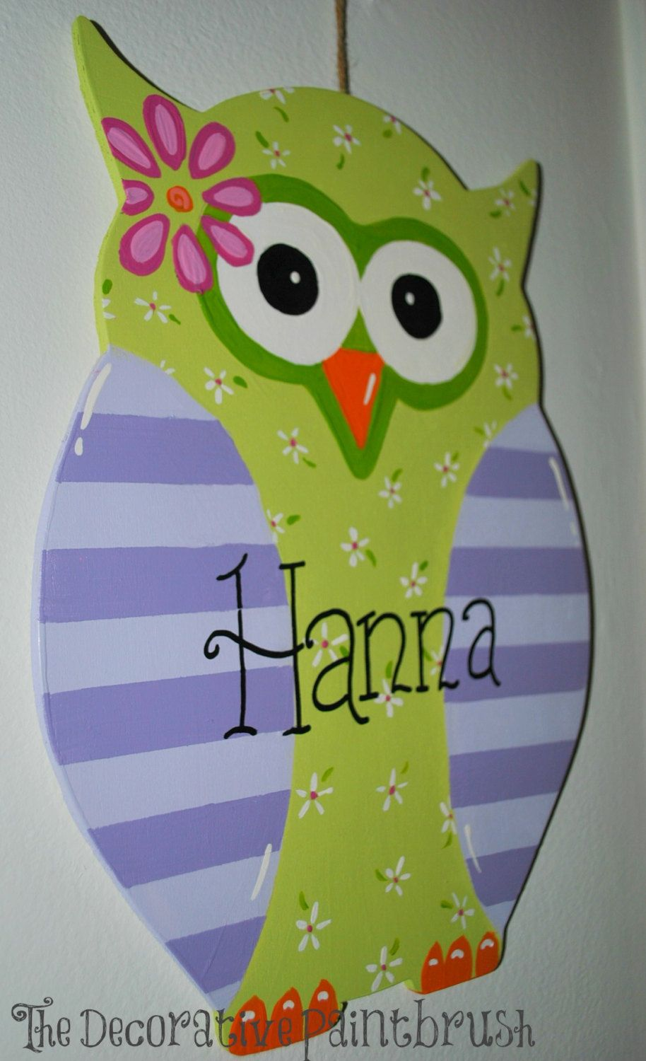 Personalized wall art personalized childrens art owl sign
