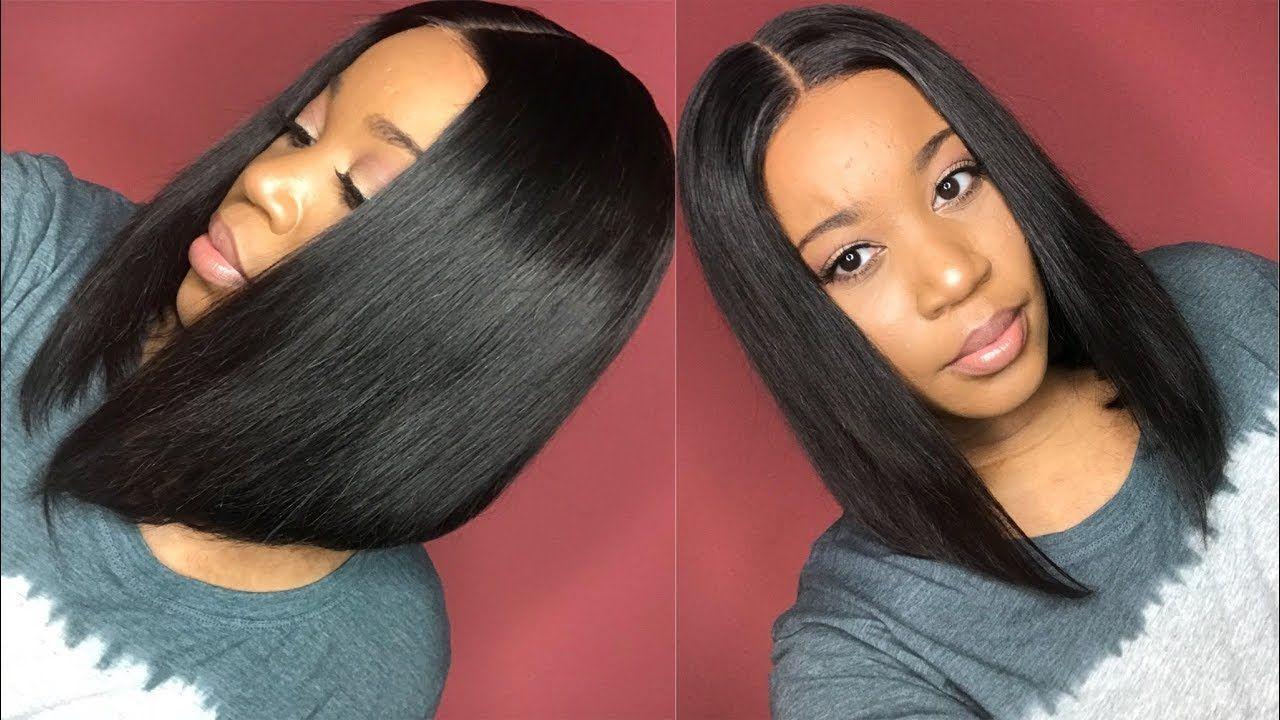 12 Inch Straight Bob Lace Front Wig I 200 Density I Yoowigs Yoowigs Natural Pre Plucked Bob Wigs Bob Lace Front Wigs Brazilian Remy Hair Short Bob Hairstyles