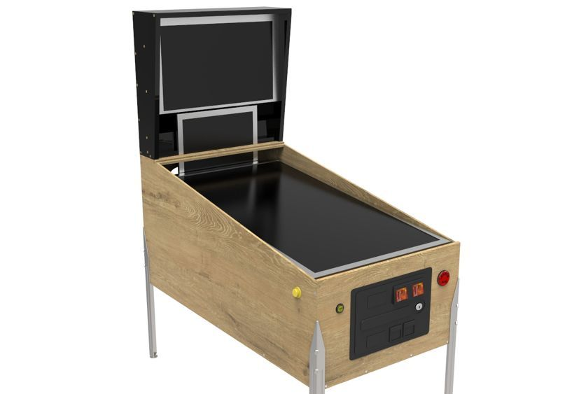 build virtual pinball cabinet legs buttons playfield backbox