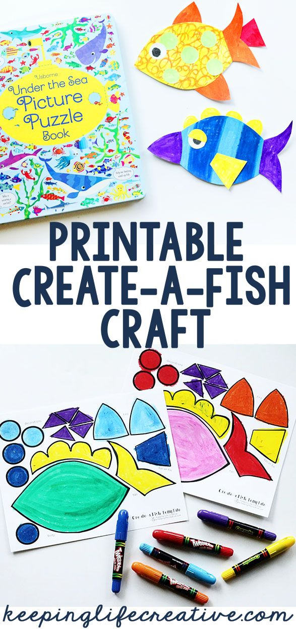 Teen Ocean Themed Bedroom: Create-a-Fish Printable Craft Template