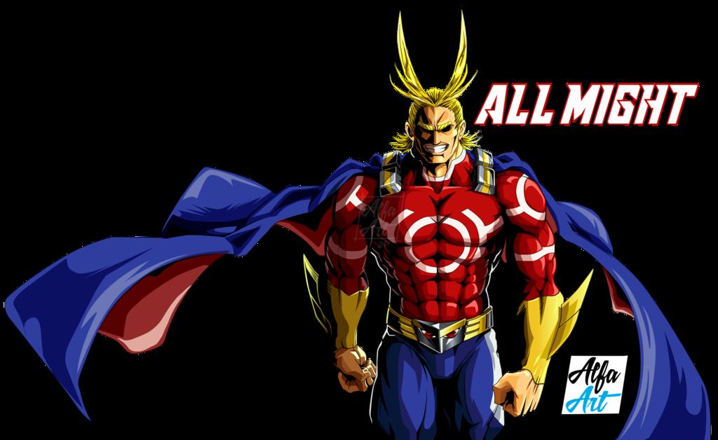 All Might Ilustracion Vectorial By Alfa Art Deviantart Com On Deviantart Hero Boku No Hero Academia Best Hero
