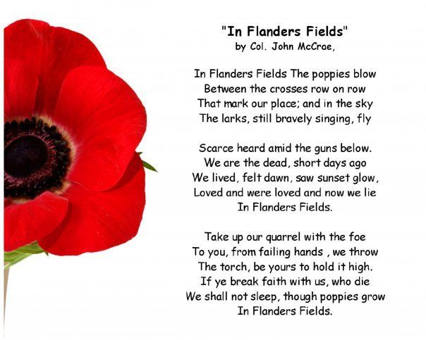 Remembrance Day 2012 - In Flanders Fields | Flanders field and Poem