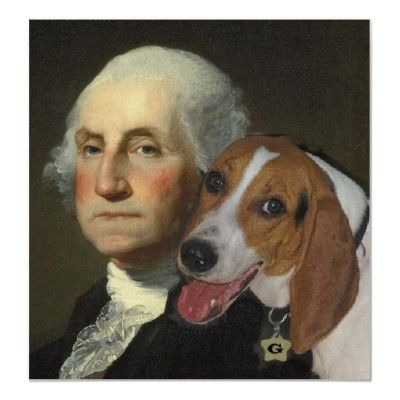 George Washington And His Foxhound Poster Zazzle Com The Fox