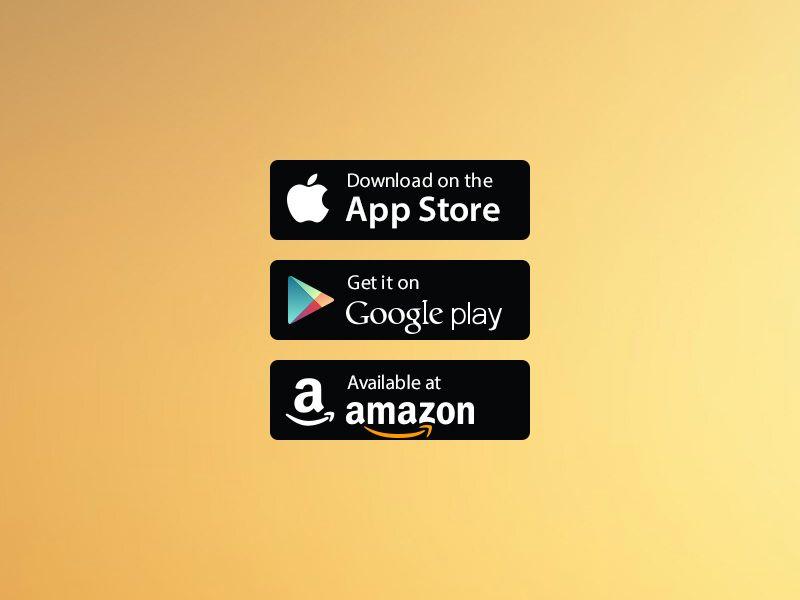 Free Vector App Store/Google Play/Amazon Badges Vector
