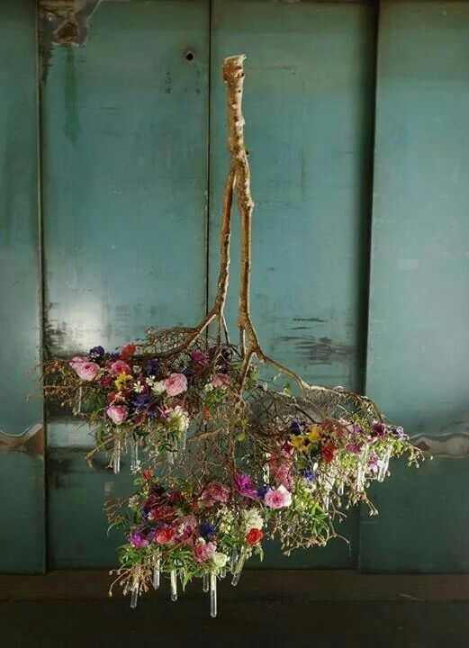 Sculptural Styling Wedding Style Inspiration Hanging Flowers Flower Arrangements Hanging Centerpiece