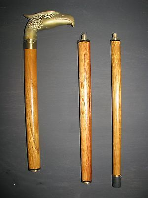 Brass Designer Head Handle Walking Stick Victorian Wooden Cane Vintage Style New And To Have A Long Life. Antiques