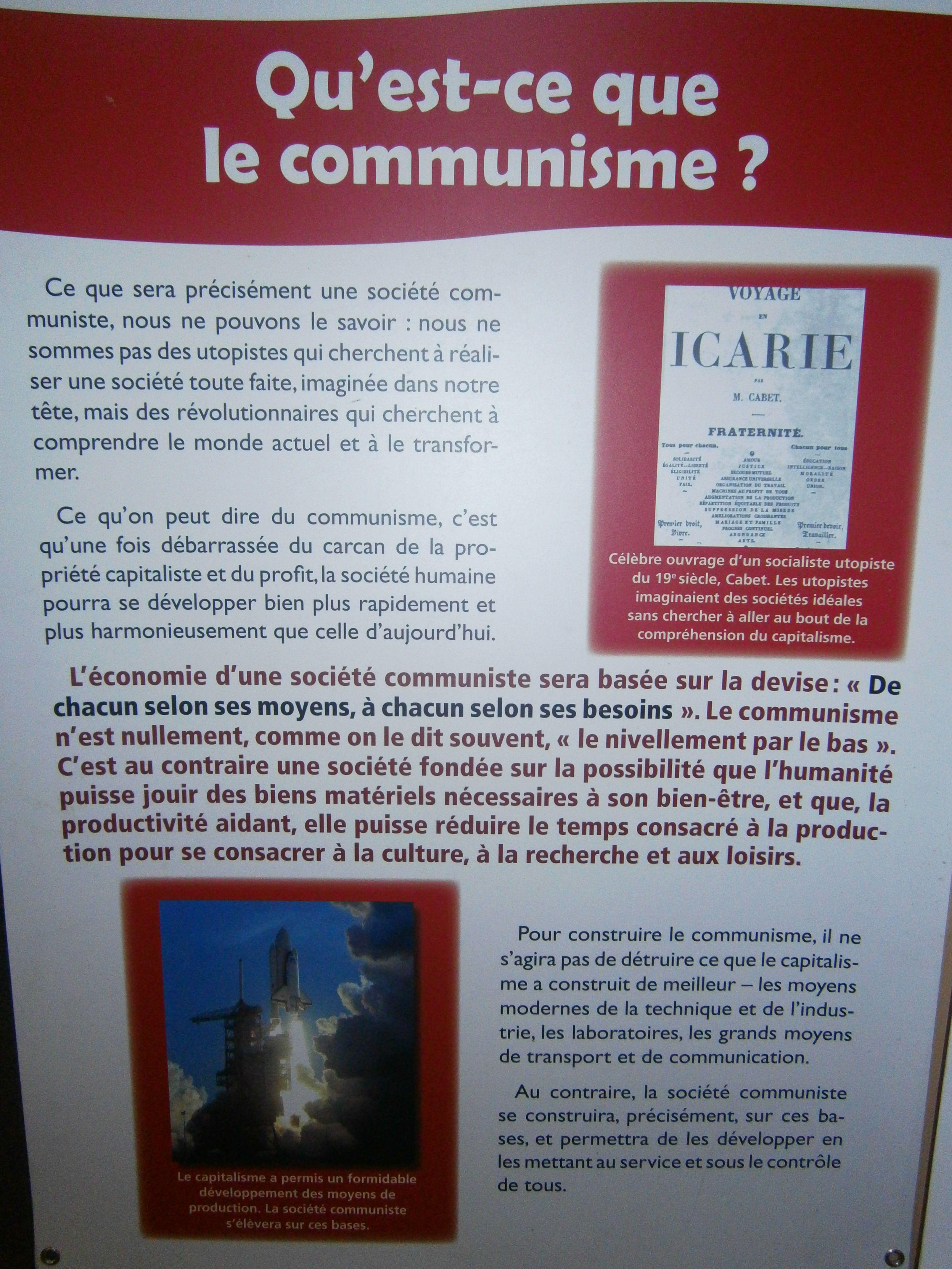 Qu Est Ce Que Le Communisme Exposition De Lo Sur Les Idees