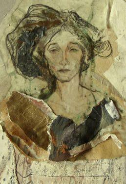 """Saatchi Art Artist Ute Rathmann; Collage, """"Hommage à Klimt XIV"""" #art"""