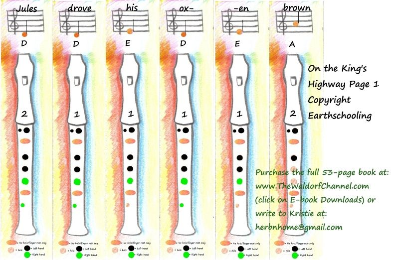 Pentatonic Recorder Book Sample waldorf recorder and other - recorder finger chart
