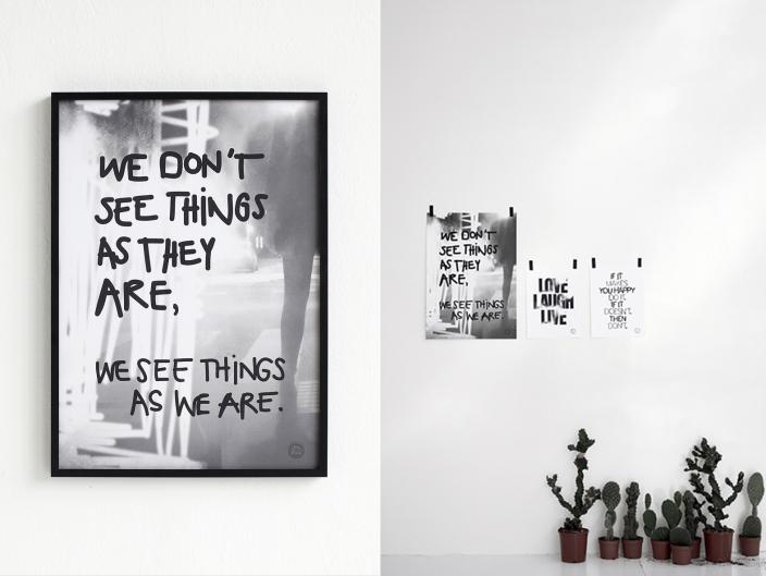 É sempre um espelho.  poster, frase, decor, Therese Sennerholt