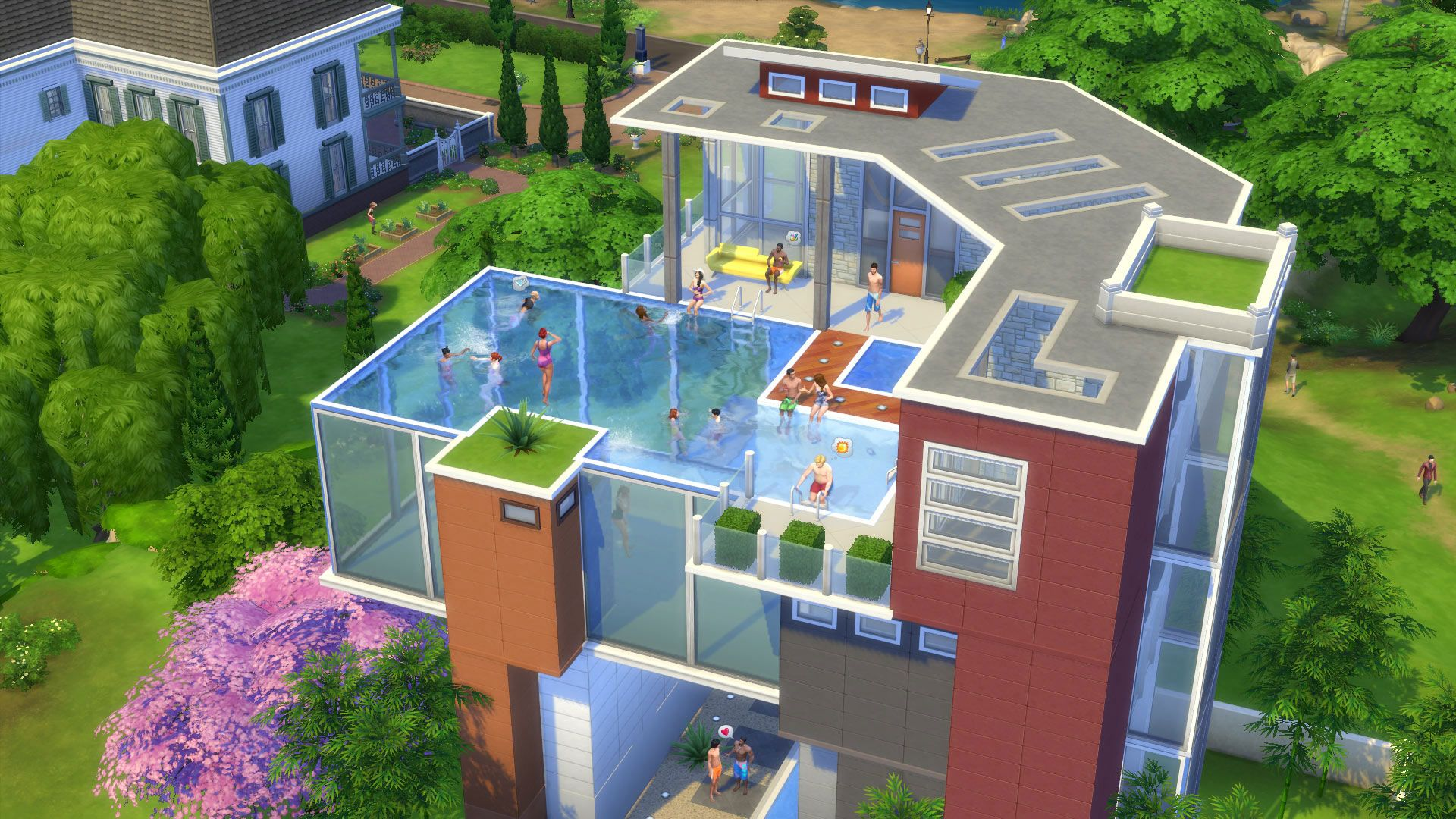 the sims 4 rooftop pools - Sims 4 Home Design