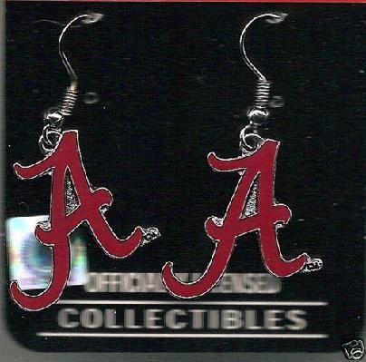 NCAA Alabama Crimson Tide Dangle Earrings