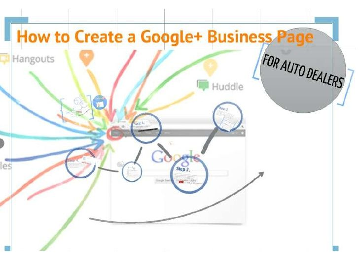 How to Create a Google+ Page for Auto Dealers