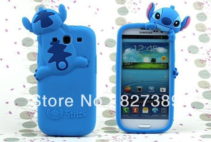 Cute Cartoon Stitch Doll Soft Rubber Case For Samsung