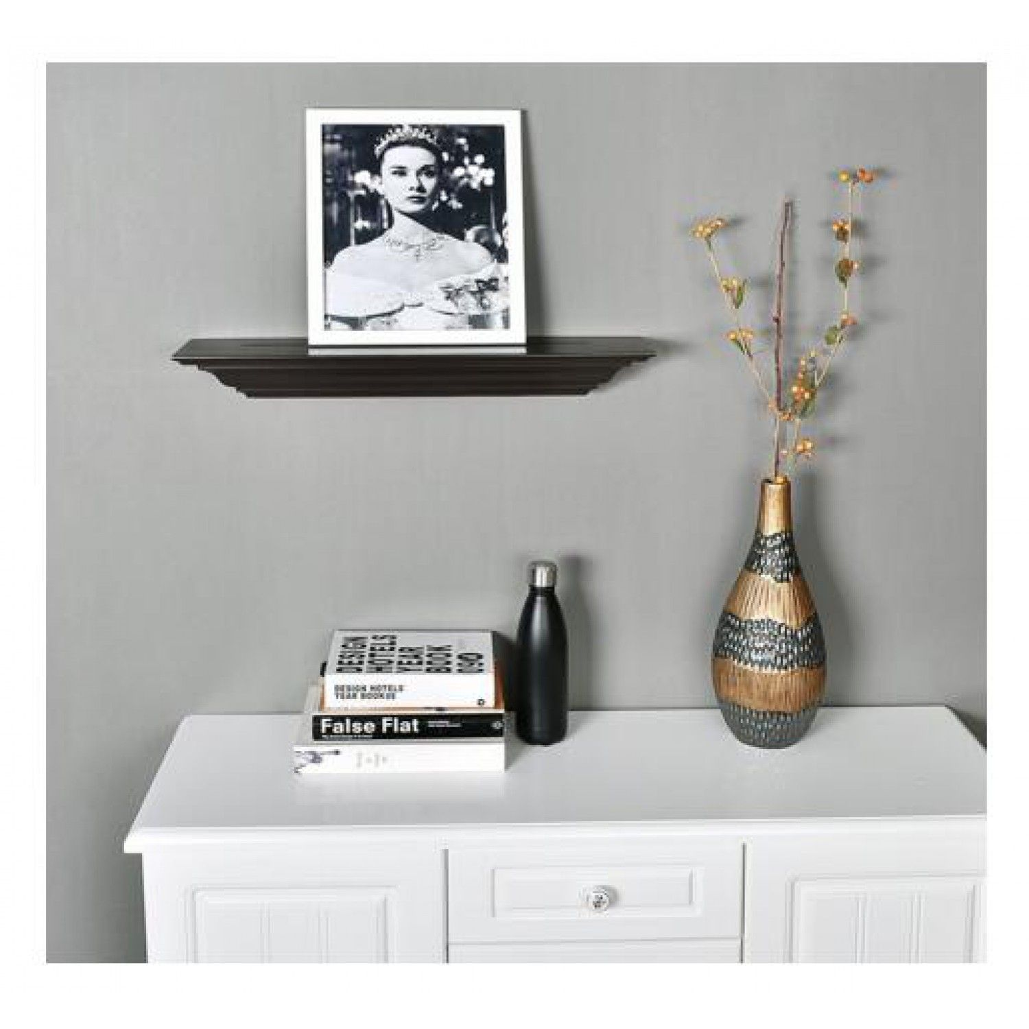24 Inch Corona Crown Molding Wall Shelf Espresso Color For Us 38 99