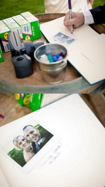 Guest book: Polaroid pictures of the guests at your wedding