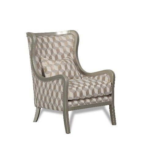 contemporary champagne geometric accent chair diamante champagne