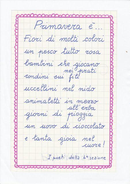 Maestra Caterina Poesia Inventata Dai Bambini Scuola Italiano