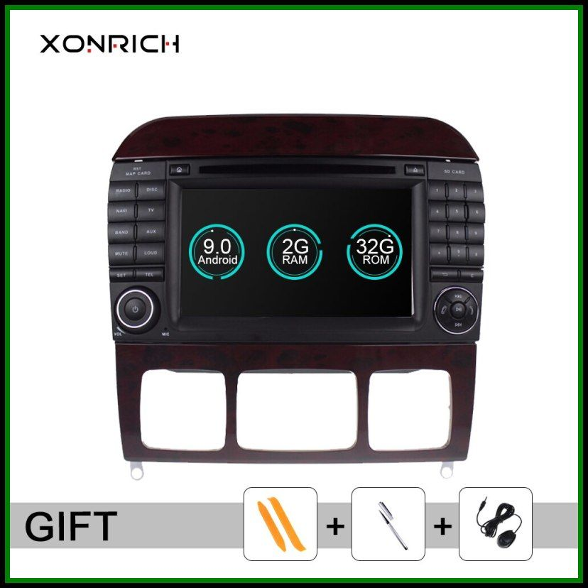 Sale Xonrich 2din Android 9 0 Car Dvd Player For Mercedes Benz S Class W220 W215 S280 S320 S350 S400radio Gps Navigation Gps Navigation Car Audio Benz S Class