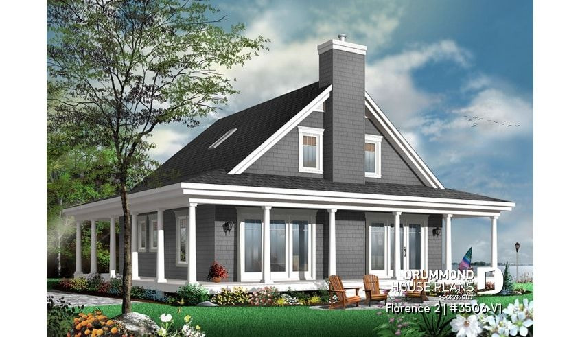 Discover The Plan 3506 V1 Florence 2 Which Will Please You For Its 3 4 Bedrooms And For Its Country Styles Country Cottage House Plans Cottage Style House Plans Drummond House Plans