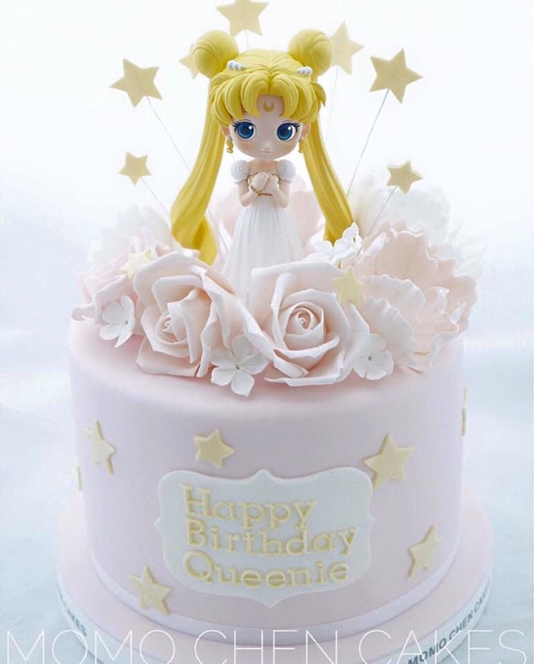 Amazing Sailor Moon Cake With Images Sailor Moon Cakes Sailor Moon Personalised Birthday Cards Beptaeletsinfo