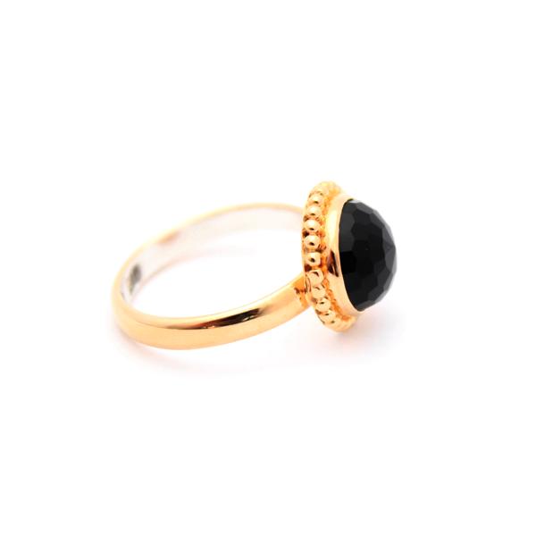Black Onyx Gold Ring – Kate McCoy