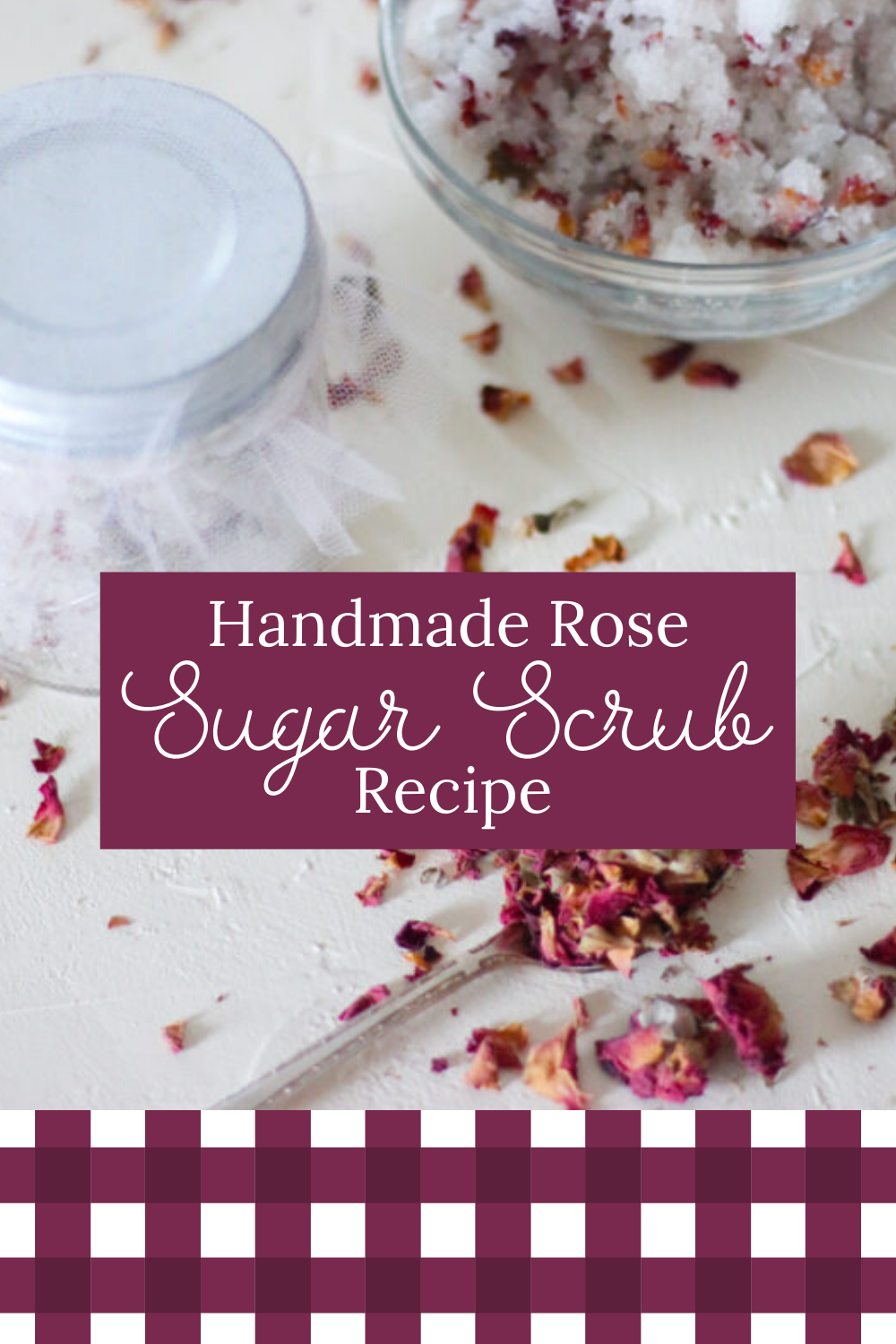 DIY Rose Sugar Scrub Recipe - Valentine's Day Gift Idea    Click now to get the recipe for this bea