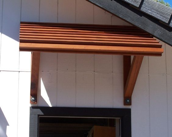 Image result for wood awning exterior awnings for Wood back door with window