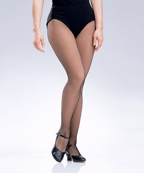 Black FISHNET Pantyhose Stockings Tights Dance Costume