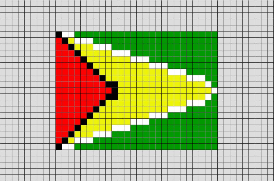 Flag Of Guyana Pixel Art Pixel Art Pixel Art Pattern Pixel Art Design