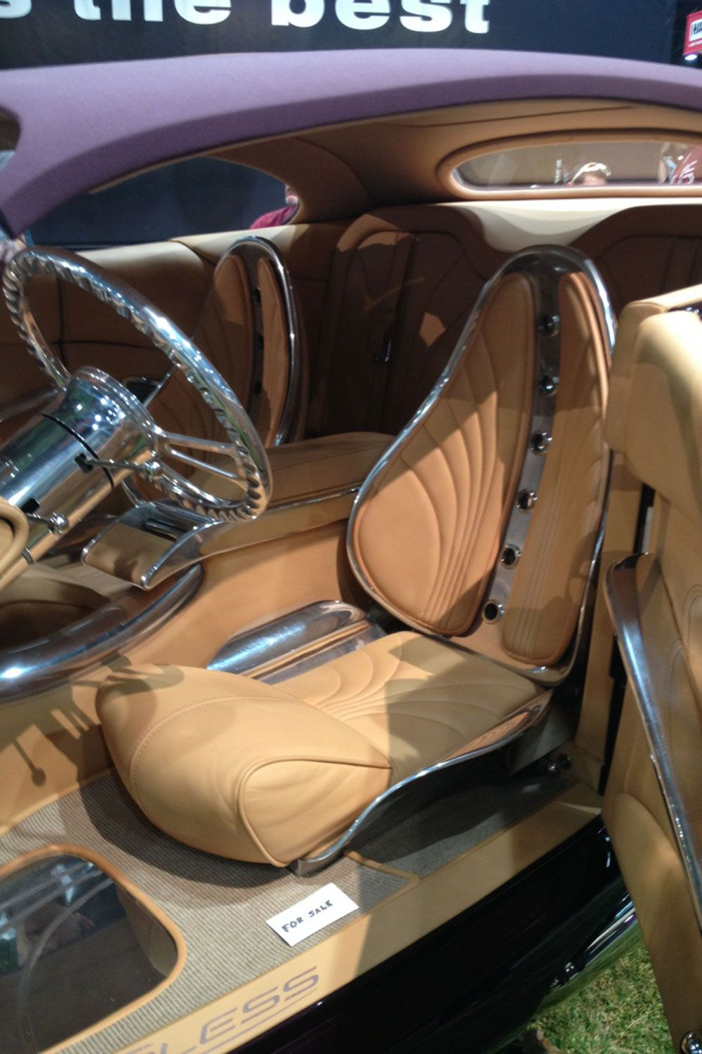 Cool Custom Car Interiors At Sema Wild Custom Coupe Front ...