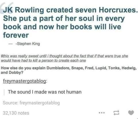 JK Rowling and Horcruxes