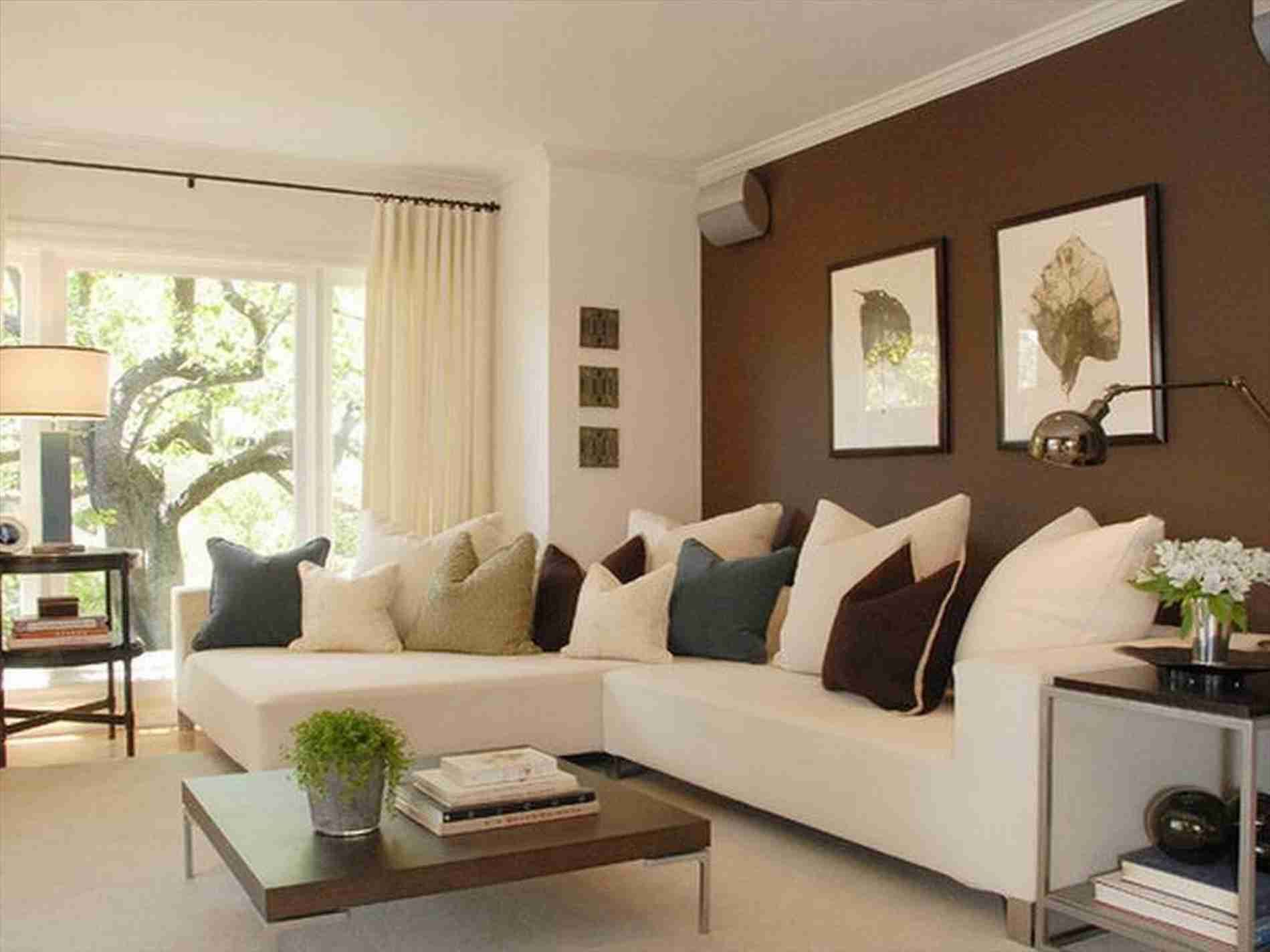 Chocolate Brown Paint Colors Accent Walls In Living Room Living