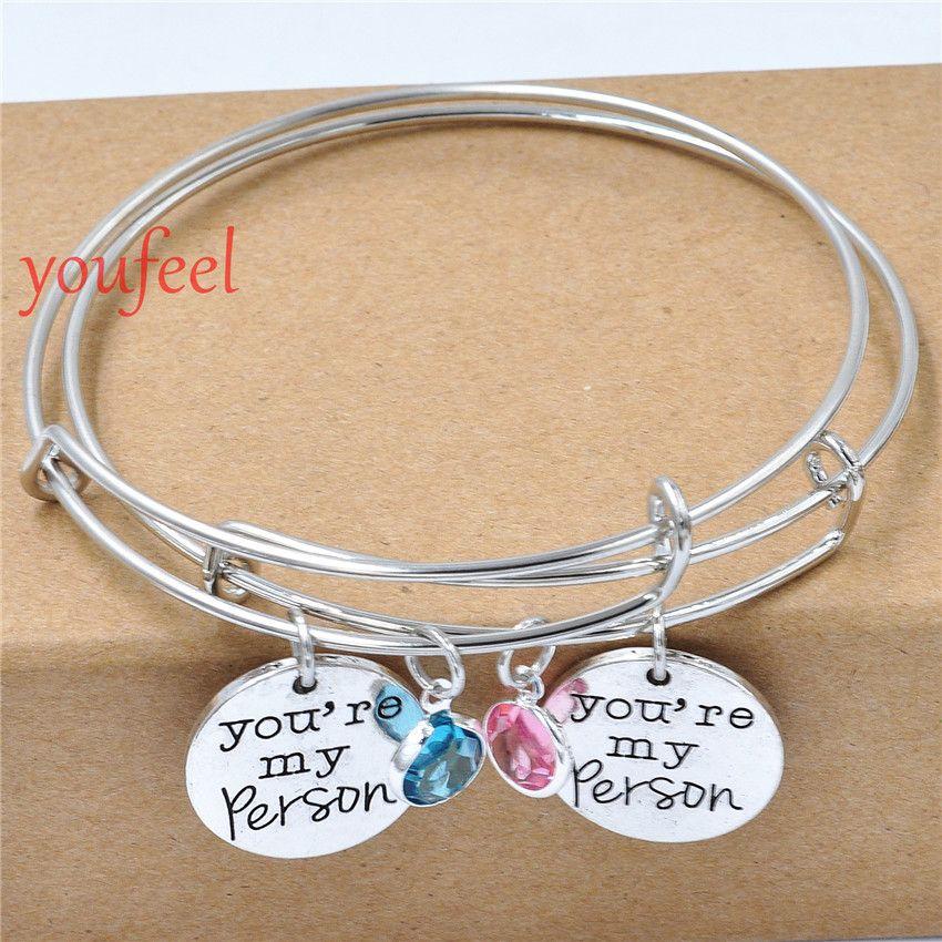10pcs greys anatomy you are my person bracelet boyfriend