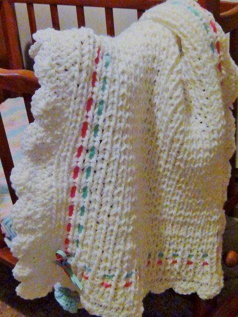 Loom Knitting Baby Blanket Pattern for the Blue 22 Inch Loom | Loom ...