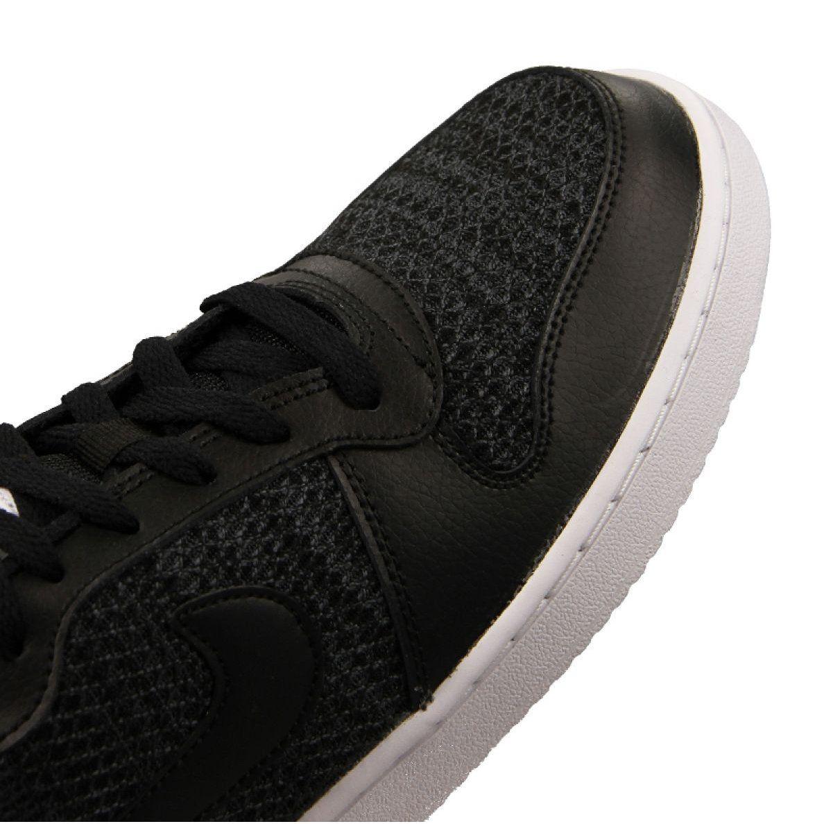 Sports Men S Nike Nike Ebernon Low Prem M Aq1774 001 Shoes Black Nike Black Shoes Mens Nike Shoes
