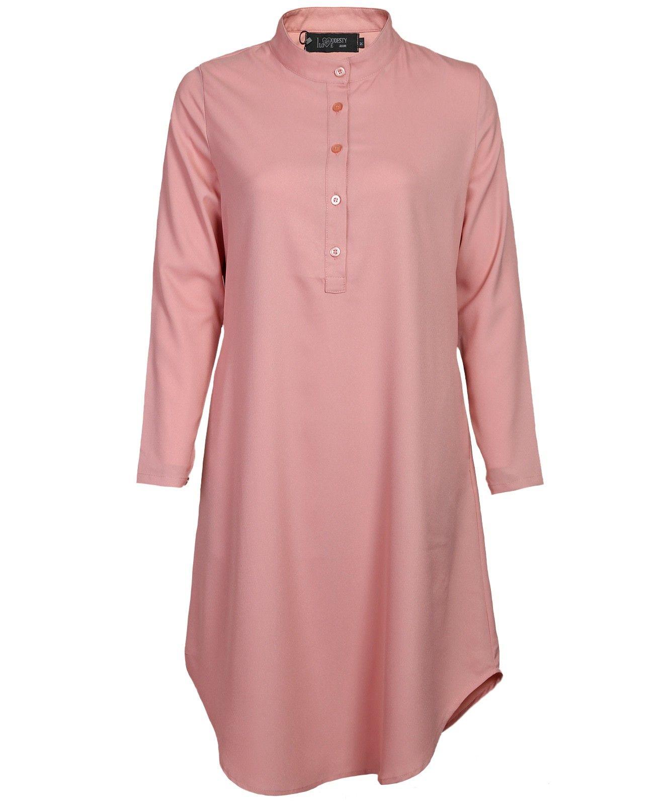 Salmon Long Dress Shirt I Love Modesty Modest Dressing