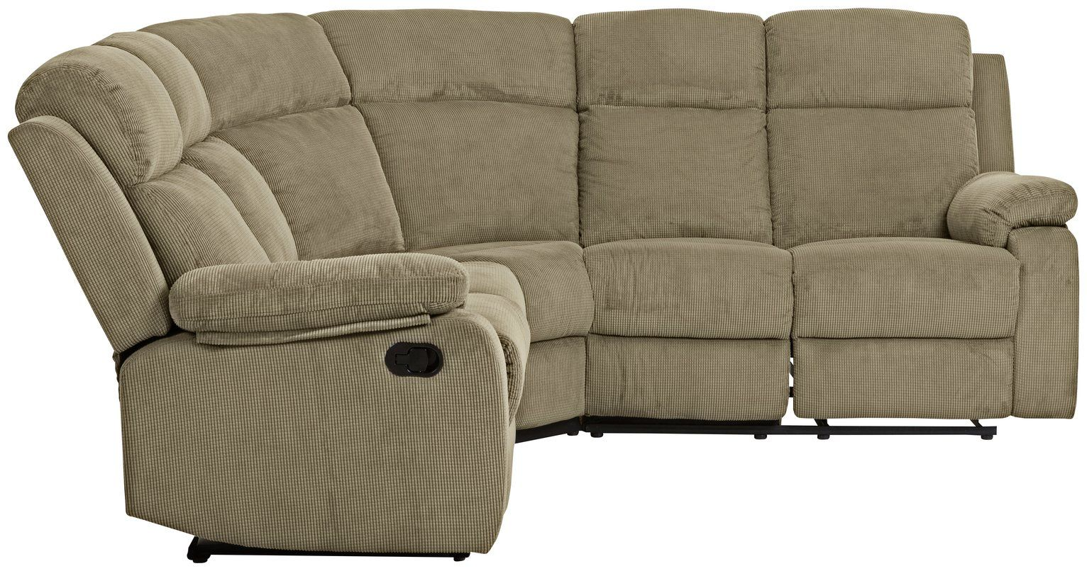 Argos Home New Bradley Fabric Recliner Corner Sofa Mink In 2020 Corner Sofa Corner Sofa Mink Recliner