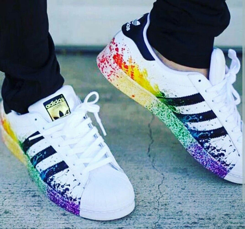 Superstars Bunt Adidas Palazzo di scarpe Pinterest adidas