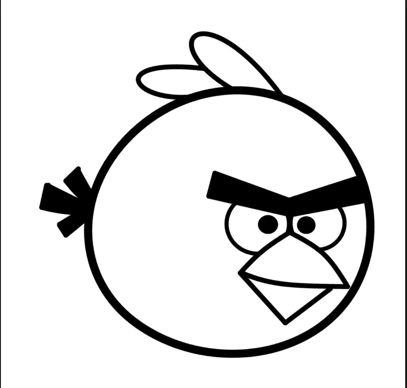 Angry Birds Drawing Templates