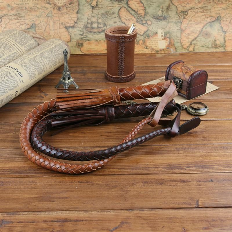Hand Made Quality Genuine Braided Leather Riding Crop//Leather Whip.