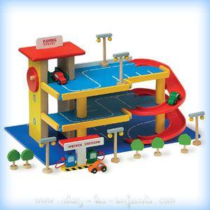 Garage En Toy Juguete Wooden Bois VoituresParking Pour Petites srtdChQ